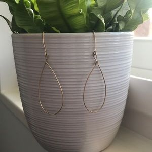 Jewelry - Gold-filled wire oval earrings